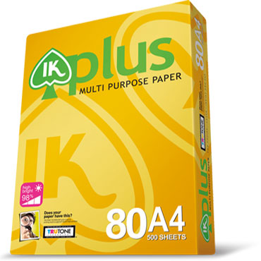 IK PLUS MULTI PURPOSE COPY PAPER A4 80GSM